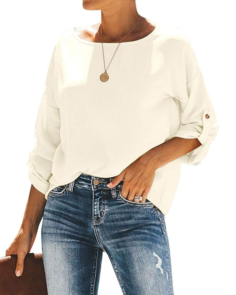Women Tops Casual Solid Fashion Blouses - Coendy