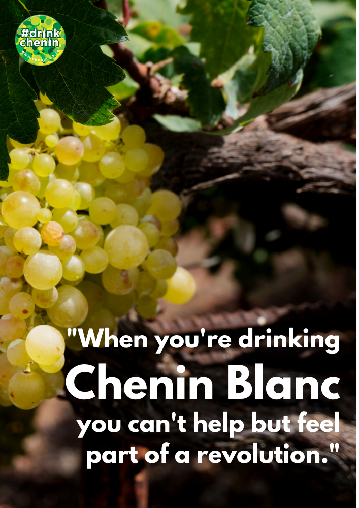 When drinking Chenin Blanc you can't help but feel part of a revolution