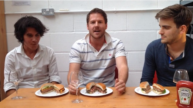 Judging the best burgers in London, with wine of course.