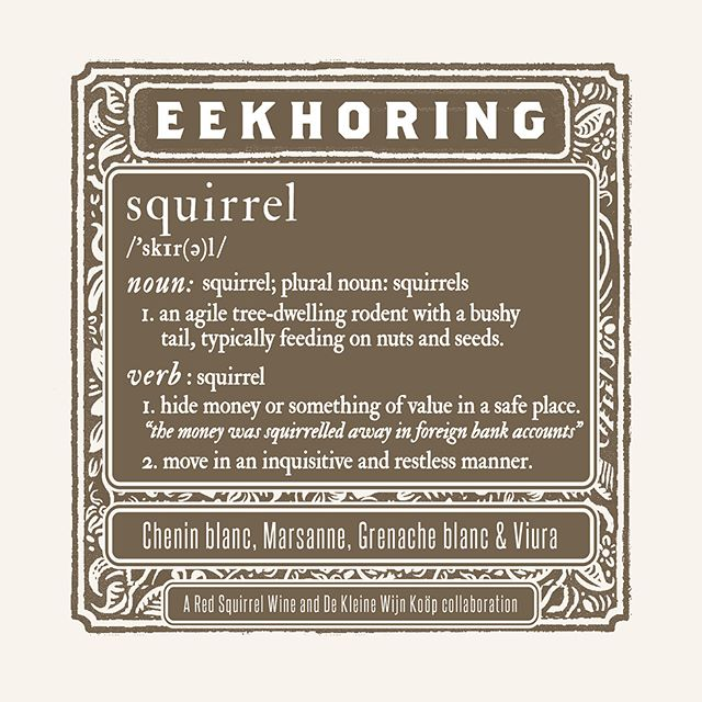 Eekhoring Wit 2018 - Red Squirrel Wine