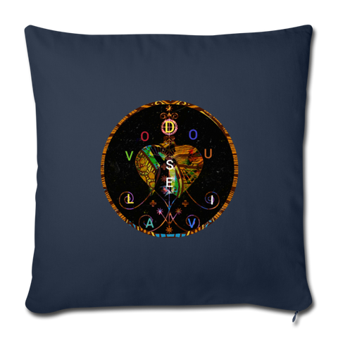 "Throw Pillow Cover 17.5"" x 17.5"" - navy"