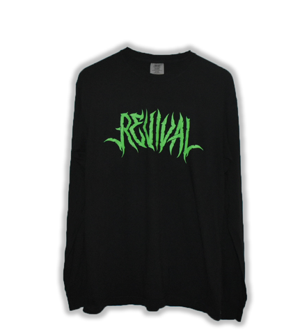 Black Long Sleeve Tee (green)