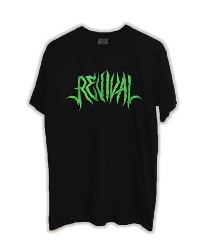 Black Short Sleeve Tee (green)