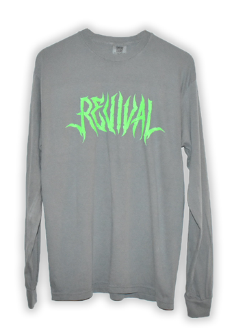 Washed Gray Long Sleeve Tee