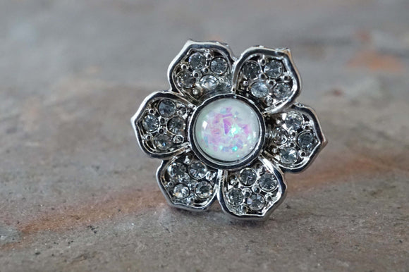 Flower Daisy Opal Tragus Cartilage Earring