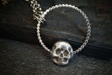 Skull Pendant Sterling Silver Necklace