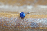 Sodalite Blue Nose Ring Nose Piercing Nose Bone L Bend