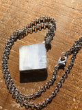 Raw Rough Rainbow Moonstone Necklace (#3)