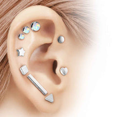 Square Disc Cartliage Earring Tragus Helix Piercing