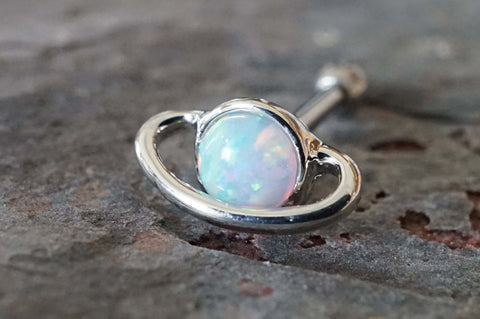 Saturn Opal Tragus Cartilage Earring