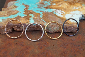 Rose Gold, Gold, Black or Silver Nose Hoop Nose Ring 16G 18G 20G Rose Gold Nose Piercing