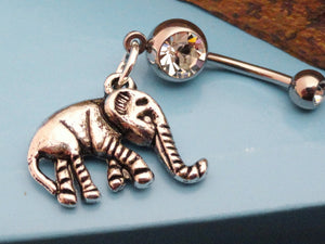Elephant Belly Button Rings Navel Jewlery