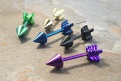 18 Gauge Metallic Blue Arrow Cartilage Earring Tragus Helix Piercing