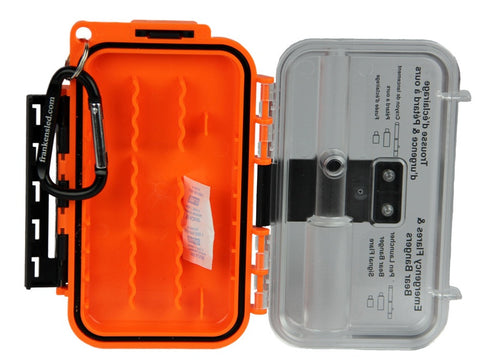 Empty Waterproof Flare/Bear Banger Case w/ Carabiner