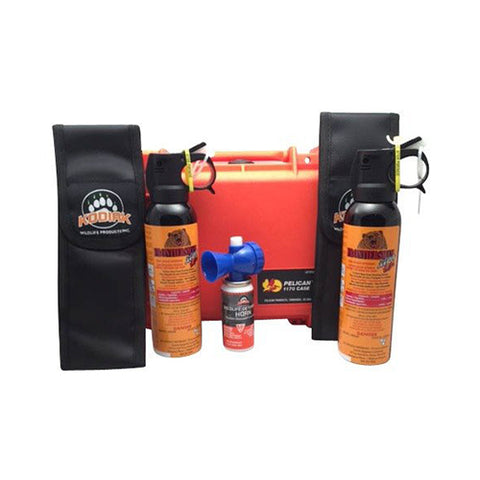 Xtra Bear Spray Wildlife Safety Kit in Pelican case - Watertight, Crush-proof, High Impact