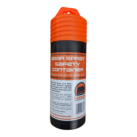 Bear Spray Safety Container with Foam