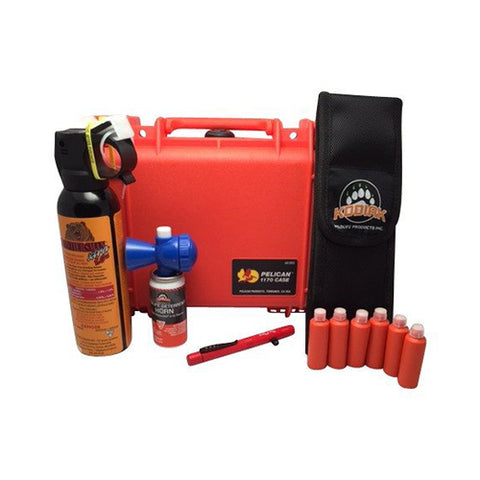 Bear Scare Pelican Case Wildlife Safety Kit - Watertight, Crush-proof, High Impact