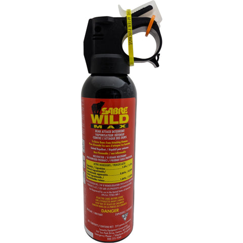 Sabre Bear Spray Wild MAX 1% with Glow in Dark Safety Wedge