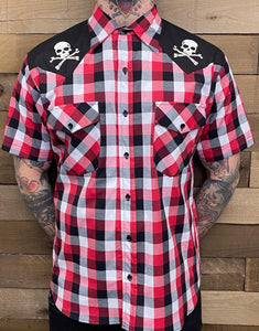 STEADY- SKULL WESTERN BUTTON UP