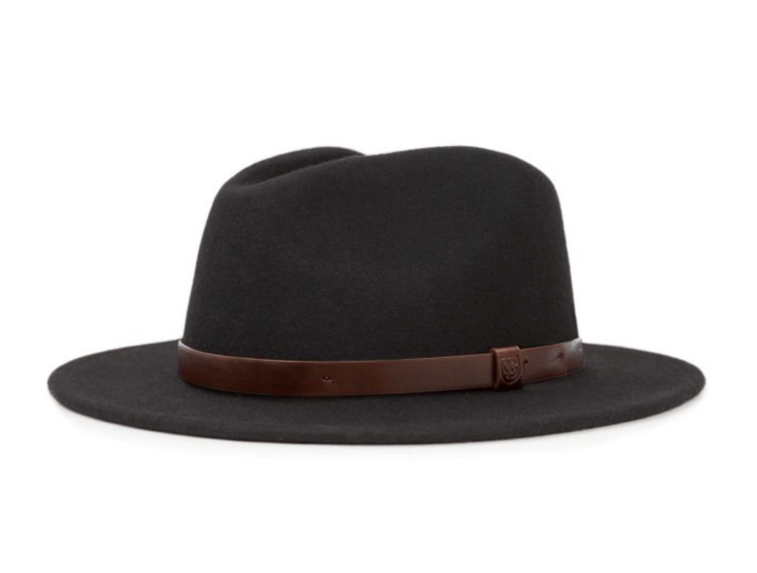 BRIXTON- MESSER BLACK WITH BROWN BAND