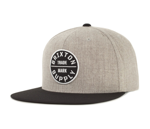 BRIXTON- OATH lll SNAPBACK HEATHER GREY/BLACK