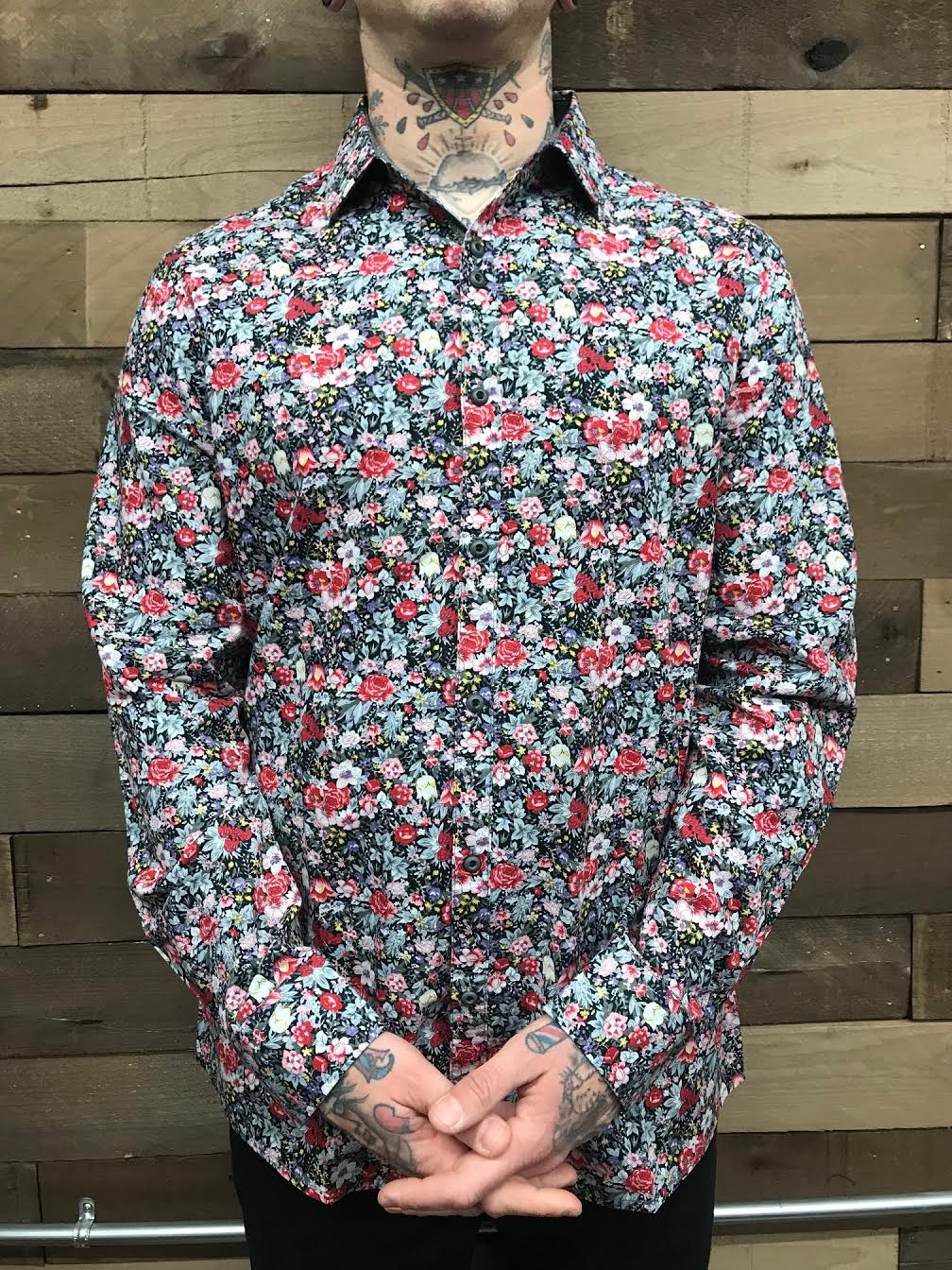 ROCK ROLL N SOUL- FLOWER POWER BUTTON UP