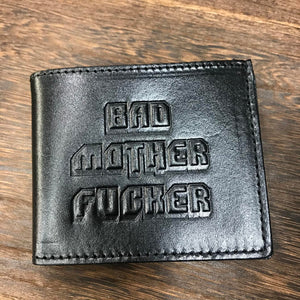 BAD MOTHER BI FOLD WALLET BLACK