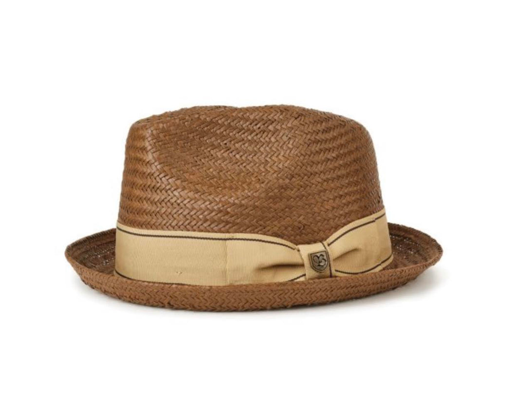 BRIXTON- CASTOR FEDORA BROWN/GOLD