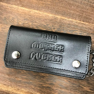 BAD MOTHER TRUCKER WALLET W/ CHAIN BLACK