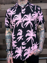 Load image into Gallery viewer, PINK PALM HAWAIIAN SHIRT
