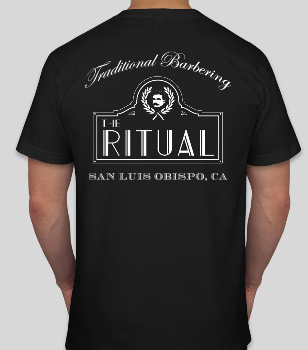 RITUAL MERCH- BLACK TRADITIONAL BARBERING SHIRT