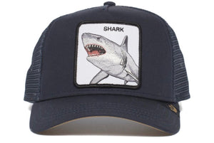 GOORIN- SHARK DUNNAH NAVY ANIMAL FARM TRUCKER