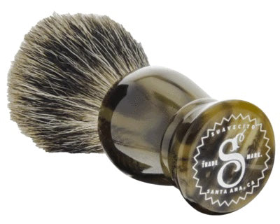 SUAVECITO | TIGERS EYE BADGER SHAVE BRUSH