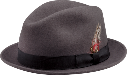 NEW YORK HAT- STINGY FEDORA- GREY