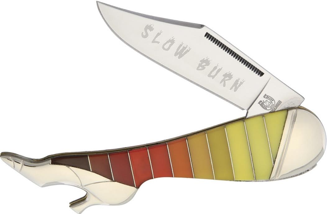 BLUE RIDGE- LARGE SLOW BURN LEG KNIFE