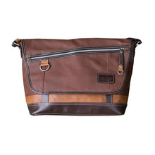 Load image into Gallery viewer, HARVEST LABEL- BROWN VANTAGE MESSENGER BAG