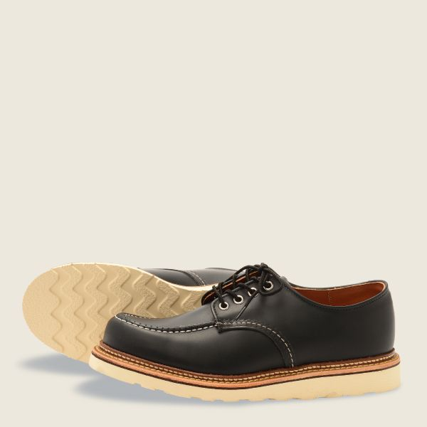 REDWING- CLASSIC OXFORD-  BLACK 8106