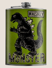 Load image into Gallery viewer, TRIXIE & MILO- WHISKEY MONSTER FLASK