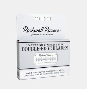 ROCKWELL | 20 SWEDISH STAINLESS STEEL DOUBLE-EDGE BLADES