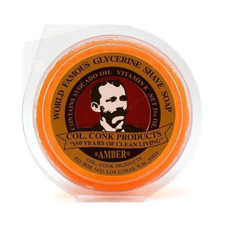 COL. CONK- GLYCERINE SHAVE SOAP AMBER