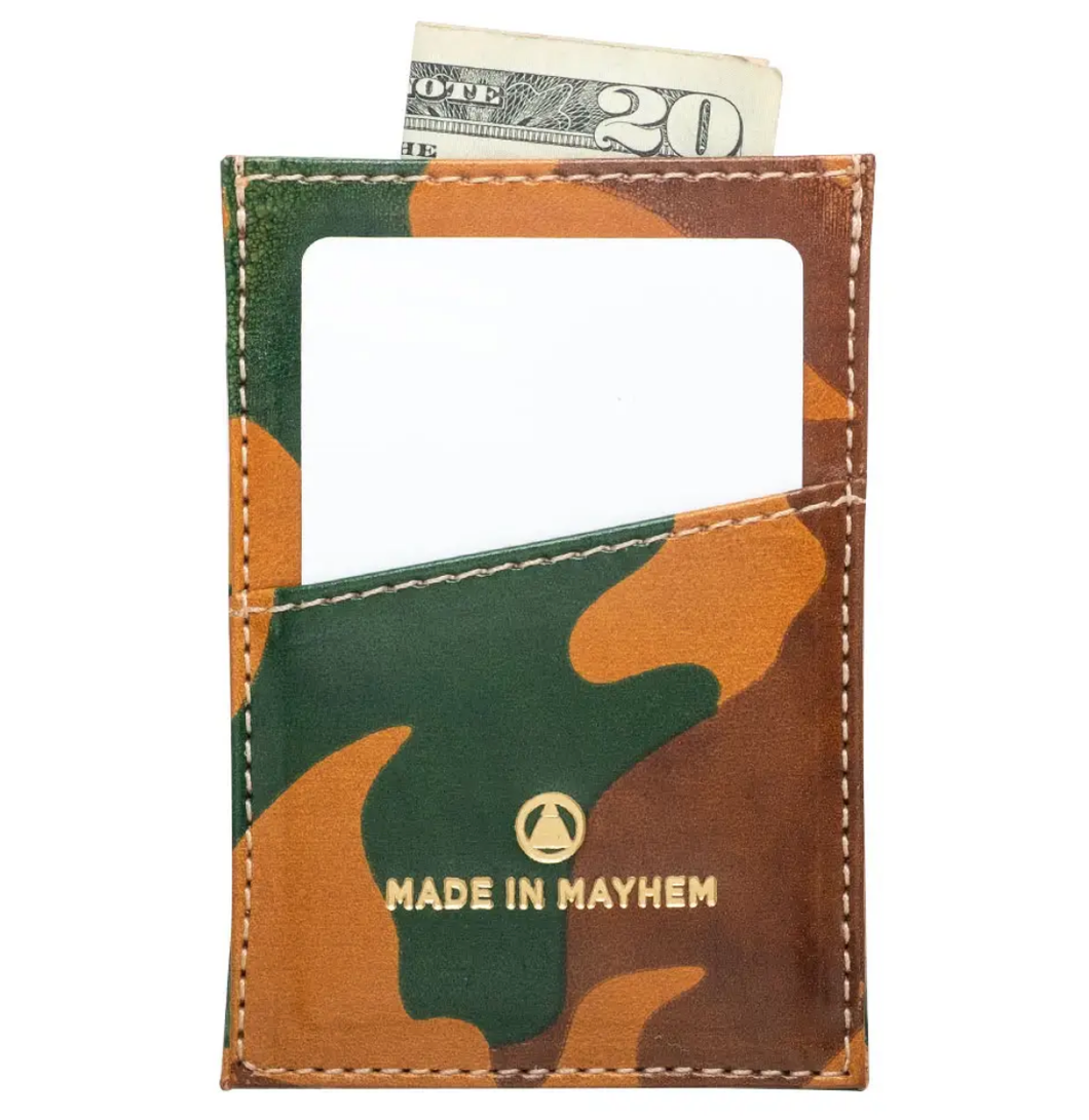 MADE IN MAYHEM- SLIM CARDHOLDER LIMITED EDITION CAMO