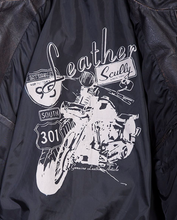 Load image into Gallery viewer, SCULLY LEATHER- RACING STRIPES MOTORCYLE JACKET