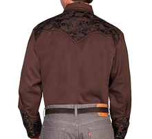Load image into Gallery viewer, SCULLY- FLORAL TOOLED EMBROIDERY- BROWN