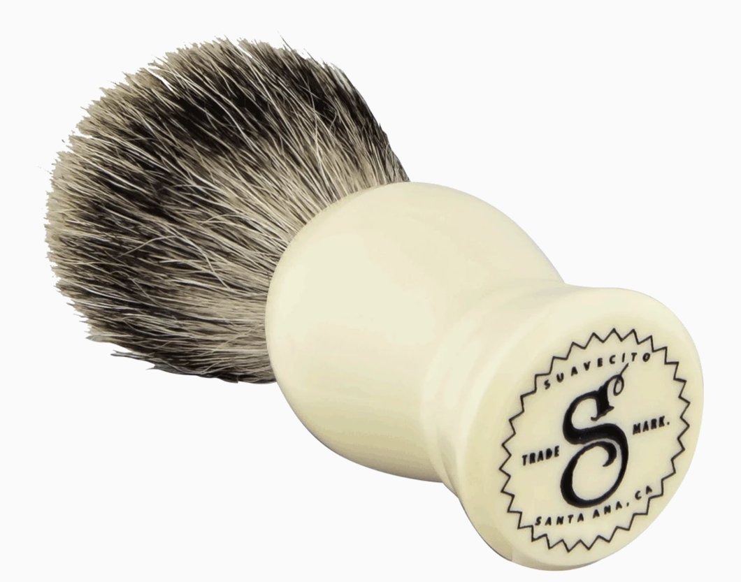 SUAVECITO- IVORY BADGER SHAVE BRUSH