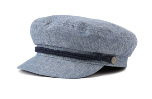 BRIXTON- FIDDLER CAP- LIGHT BLUE