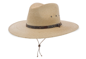 STETSON- CUMBERLAND STRAW SAFARI HAT- TAN