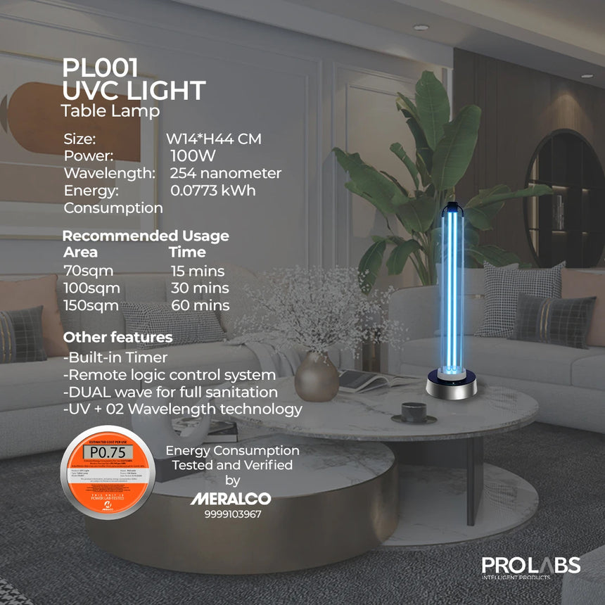 PL001-UVC Light Table Lamp