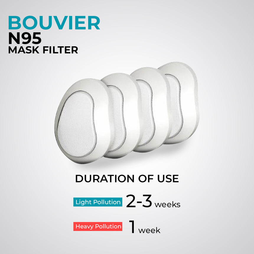 Bouvier Replaceable N95 Filter (6 pieces per pack)