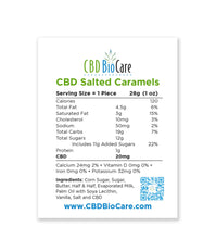 Load image into Gallery viewer, Salted CBD Caramel Candy