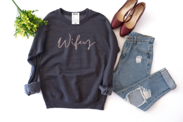 Wifey Cozy Crew Sweater